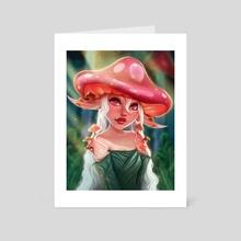 Mushroom Nymph - Art Card by Kathryn's Kanvas