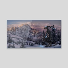 Wintry - Acrylic by Evan Bell