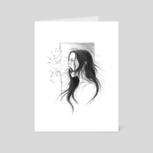 Pain into anger - Art Card by e Drawings38