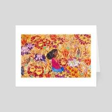 Summer - Art Card by Gouache & Ink