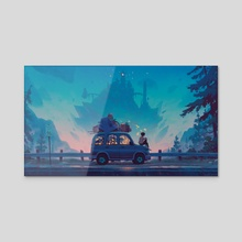 Kingdom in Blue - Acrylic by Matt Rockefeller