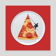 Pizza Topping - Canvas by Enkel Dika