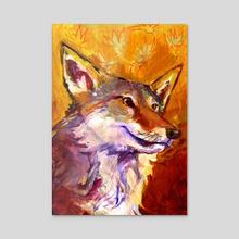 Autumn Coyote - Acrylic by birds