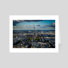 Eiffel Tower 1 - Art Card by Brian Fisher