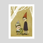 Over the Garden Wall - Art Print by Jackie Dopp
