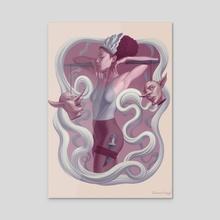 Slay - Acrylic by Briana Hertzog