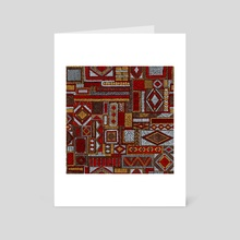 Seamless pattern in patchwork style. Embroidered Ethnic and tribal motifs. Handwork. vintage illustration. - Art Card by Julien LIEM