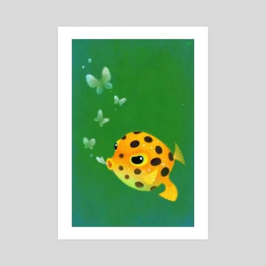 Yellow boxfish by pikaole