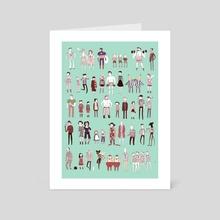 People Who Wear Stripes  - Art Card by Noelle Stevenson