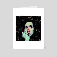 Crying in Green - Art Card by Victor Peres