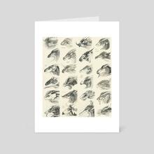 Dragonheads - Art Card by Melinda Vass