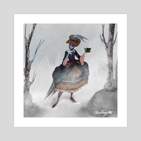 Thanksgiving Witch with Hat by Jenna Gray