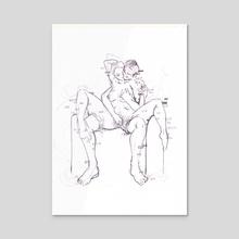 Sensual Glitches - Acrylic by Drawnk