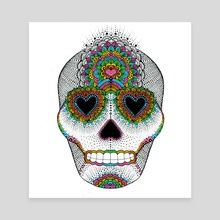 Skull Love - Canvas by Luna Portnoi
