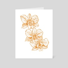 Gold Orchid II - Art Card by Paulina Navarro