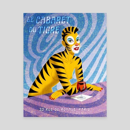 Cabaret Du Tigre by Midnight Rainbow Graphics