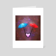Valentine Umbrellas - Art Card by Alfred Manzano