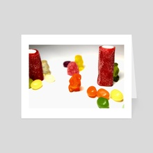 Gummy Bears' World (2) - Art Card by Simran Kaur