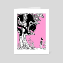 Tomoya and the Nekomata - Art Card by Kotaro