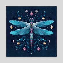 Dragonfly - Canvas by Ffion Evans
