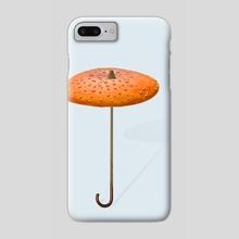 Mushroom_umbrella - Phone Case by igor kalatay