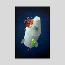 Rocket - Canvas by Hannah Payette Peterson