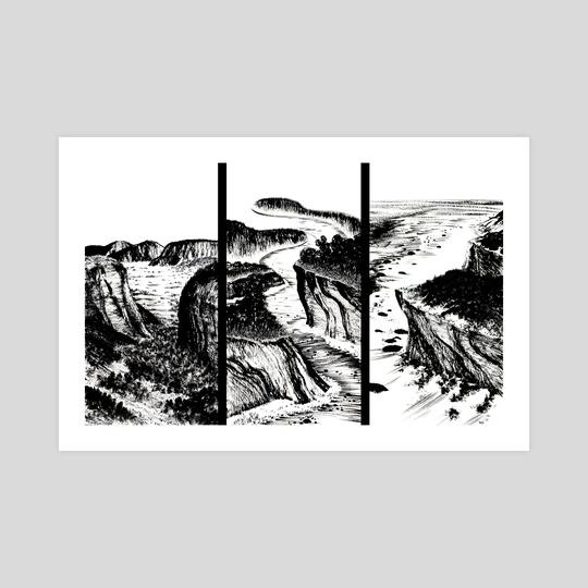 Landscape Triptic by Levi Gilbert