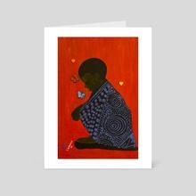 Child Neglect - Art Card by Taofik Bankole