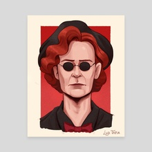 Nanny Crowley - Good Omens - Canvas by Luz Tapia
