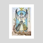 King Peregrine - Art Print by Juri Ueda