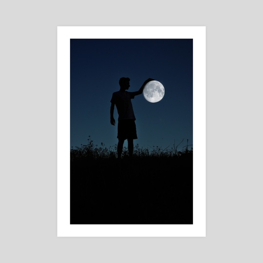 Holding the moon by Adrian Limani