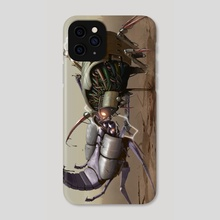 Robot Duel - Phone Case by Sady M. Izé