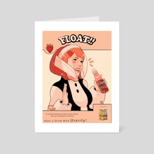 Share a drink with Uravity  - Art Card by Sydney