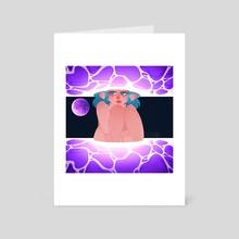 Moon Child [purple] - Art Card by Zelleruna H