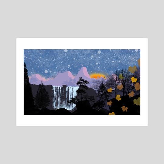 Waterfall Landscape by Tanner Folsom