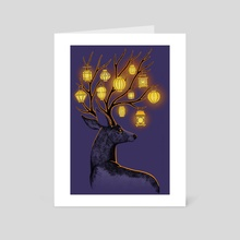 Night Guide - Art Card by Indré Bankauskaité
