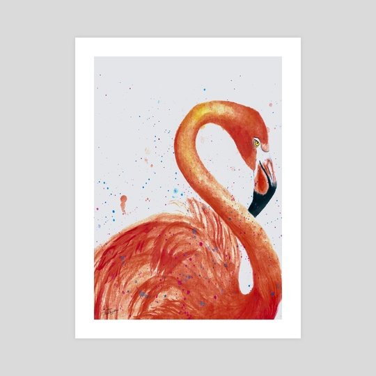 Great Flamingo by Reem Abdelbadie