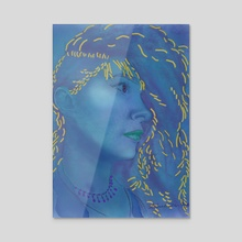 Blue - Acrylic by Moriah Thielges