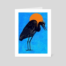 Heron - Art Card by David Bushell
