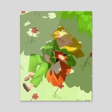 Naptime - The Little Prince   Le Petit Prince - Acrylic by Marya Vidal