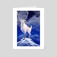 Majestic Reindeer - Art Card by Frankie Smith