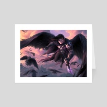 Champion of the Raven Queen - Art Card by Marcela Medeiros