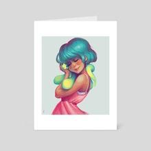 Snakey Snuggles - Art Card by Erica Feld