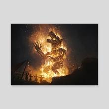 MTG - Raze the Effigy - Canvas by Cristi Balanescu