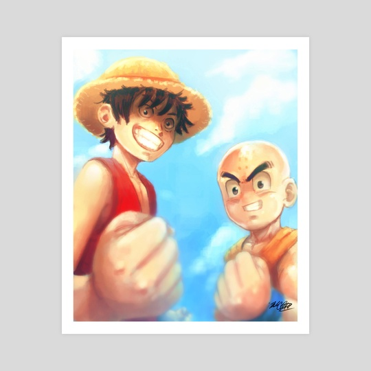 Luffy and Krillin by MARK CLARK II