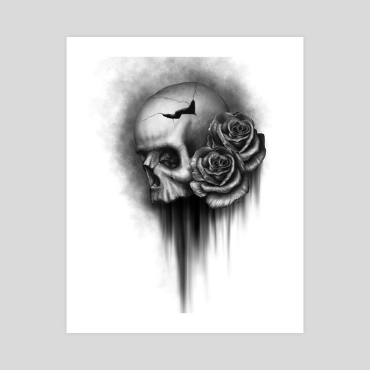 Skull and Rose 2 by Rodger Pister