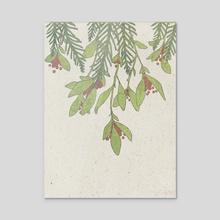 berries - Acrylic by Em Borjon