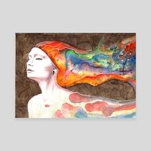 Leaving Tonight - Canvas by Veronika Vajdová