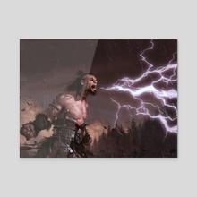 Howl of the Horde - Acrylic by Slawomir Maniak