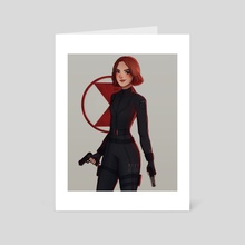 black widow - Art Card by maxy artwork